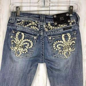Miss Me | Boot Cut Jeans Fleur de Lis | JE5736BN